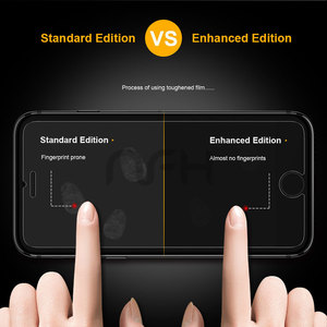 Image 3 - 3PCS easy to install ultra thin scratch proof mobile phone Tempered front film screen protector Glass for apple iphonex 7 8 6 7p