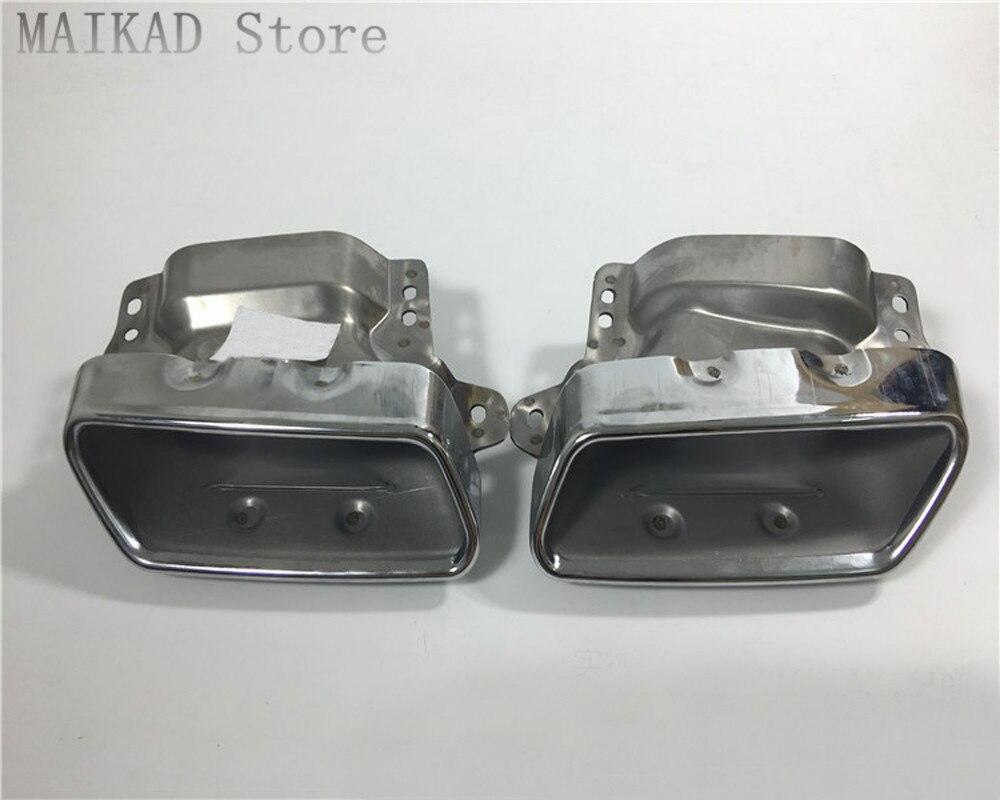 1 paire/2 pièces D'échappement Sortie D'échappement pour Mercedes-benz W164 ML280 ML300 ML320 ML350 ML420 ML450 ML500 ML550 ML63 A2214901727