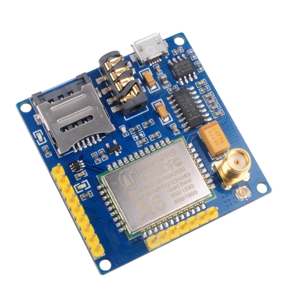 DIYmall A6 GPRS GSM GPRS Module Pro Serial Core Quad-band DIY Developemnt Board Replace SIM900 ESP8266 5mA 115200bps FZ2615 (1)