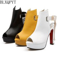 Blxqpyt Новинка 2017 года Дамская обувь Римские сандалии женские большие размеры 34-50 Красивые Ботинки женские свадебные туфли женские туфли-лодо...