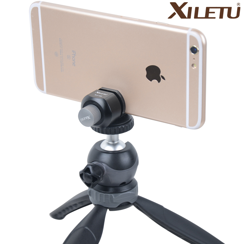XILETU Aluminum Alloy Phone Tripod Mount Universal 1 4 Screw Adapter for Camera Tripod for iPhone