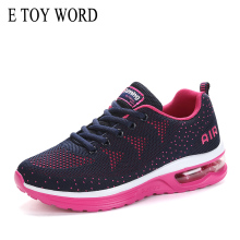 E TOY WORD Women Sneakers Air Cushion Shoes Autumn Fitness Sports flying woven Comfortable Casual