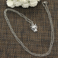 DIY Necklace Leopard Pendant Charm Handmade Jewelry Head-Choker Long New-Fashion Short