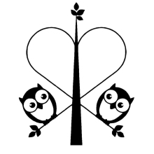 Owl Family Sticker Figure Vinyl Car Decal Couple Cute Heart Creative Decals