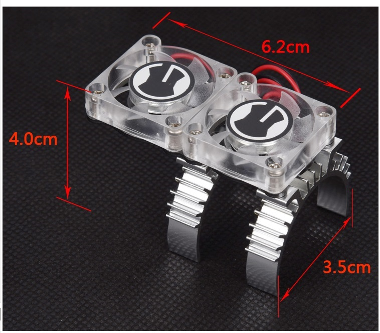 Double Thermal Sensor Radiator/Cooler for Traxxas TRX4 Motor RC Model Climbing Car Transparent Cooling Fan computer cooler radiator with heatsink heatpipe cooling fan for hd6970 hd6950 grahics card vga cooler