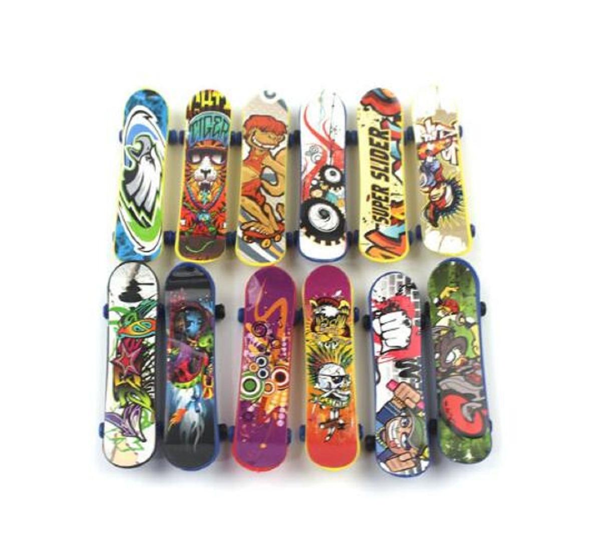 Kids Wooden Fingerboard Skateboard Set Finger Skate Board Desktop Child Toy Gift