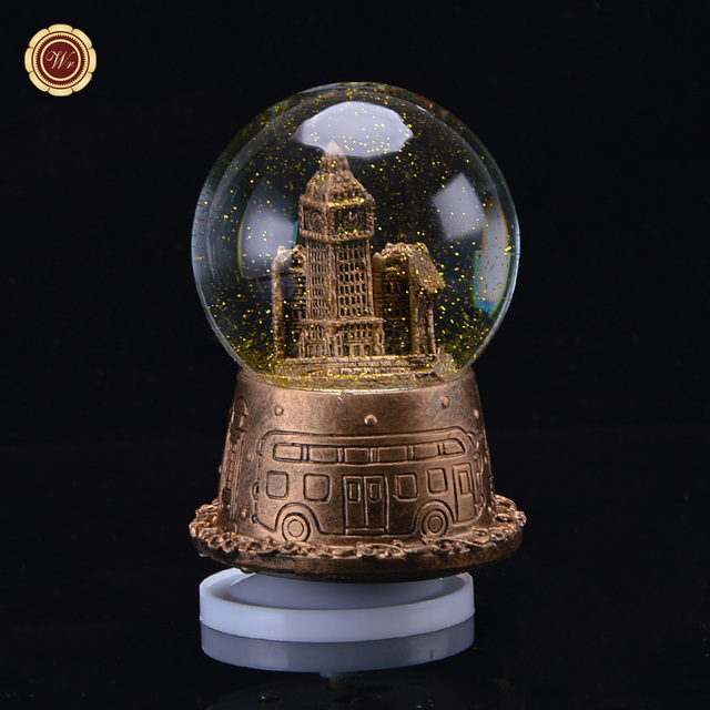 famous home office. wr home office ornaments resin famous building models crystal ball toy creative music box wedding gifts