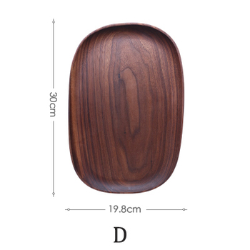 Whole Wood lovesickness Wood Irregular Oval Solid Wood Pan Plate Fruit Dishes Saucer Tea Tray Dessert Dinner Plate Tableware Set 10