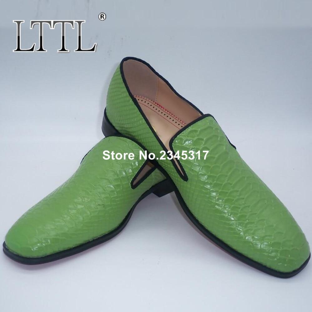Patent Schuhe Und Party Müßiggänger As Marke Snakeskin Picture Männer Designer on Slip Grün Kleid Leder Mens Prom qrqgwHzA