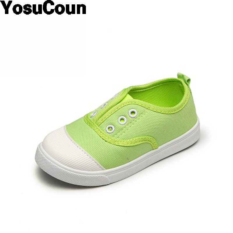 2017 Kids Shoes Children Canvas Shoe For Boys Girls Cloth Shoes For Child Spring Autumn White