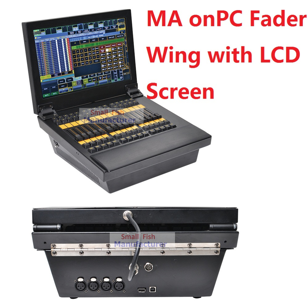 2017 New DMX 2048 Controller MA onPC Fader Wing with Tocuh LCD Screen Monitor Extend to 4096 Parameters Stage Lights DMX Console
