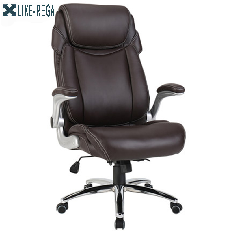 Furniture Office Rotate Ecological skin chair furniture office manager rotate armrest chair