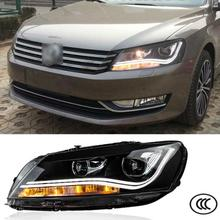 Car Styling Headlights For Volkswagen VW Passat B7 2010 2011 2012 2013 Bifocal lens Guiding light Best quality Free Shipping