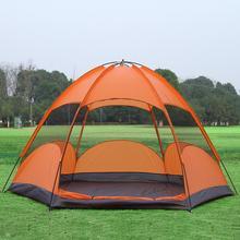 Outdoor camping namioty plandeki 4-5 peron piętrowe UV wodoodporna duża rozrywka Spacery turystyka i camping namiot składany namiot
