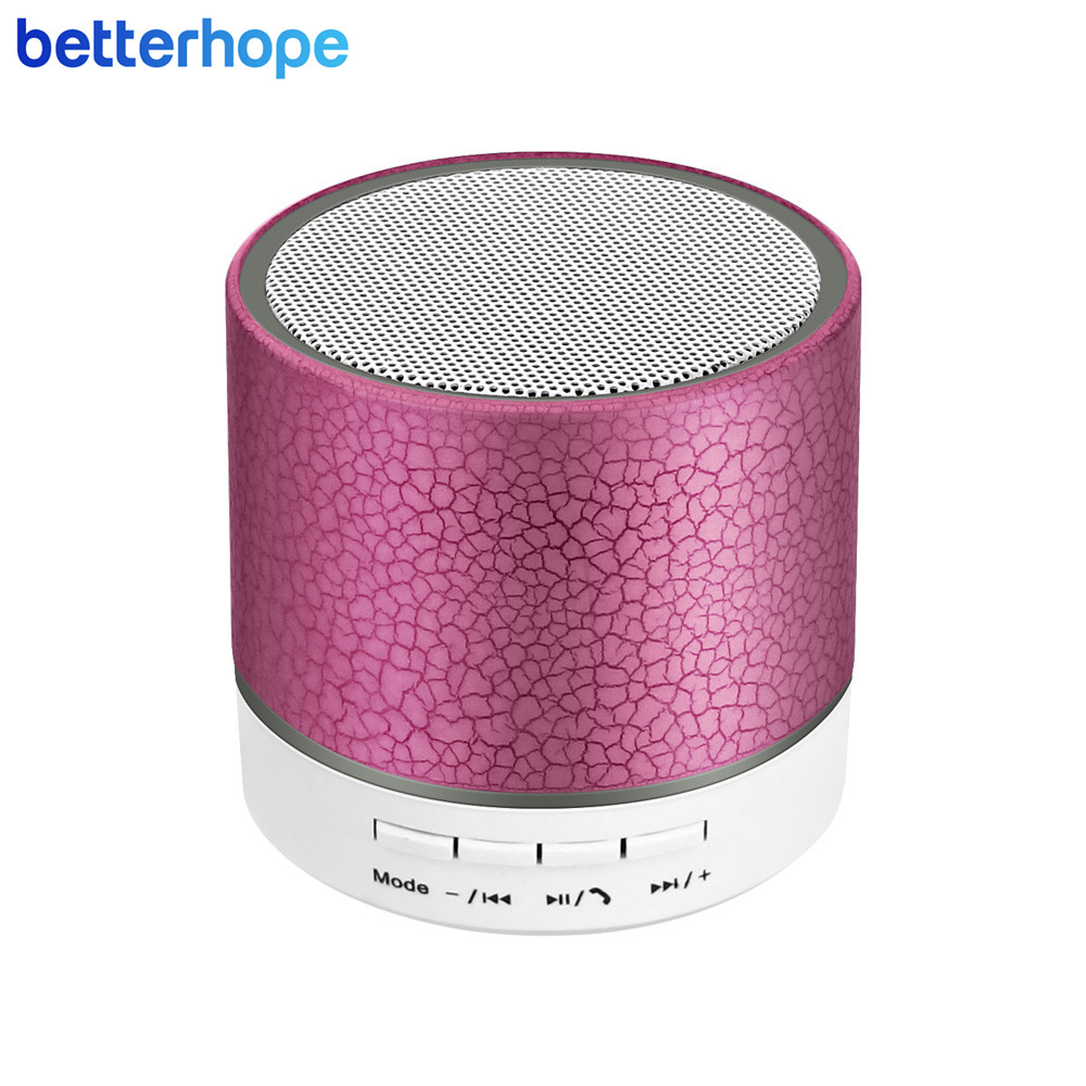 Portable Wireless Mini Bluetooth Speakers Plastic LED Handsfree Speaker With Mic Support TF Card FM AUX for Smartphones BH-A9