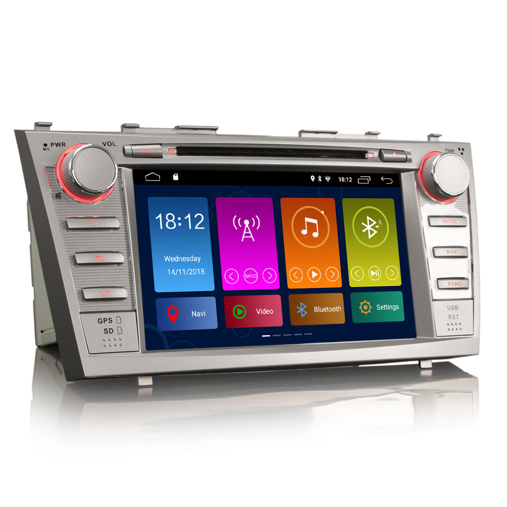 """8"""" Android 9.0 OS Car DVD Multimedia GPS Radio for Toyota Aurion 2006-2011 & Toyota Camry 2007-2011 with 3G/4G Dongle Support(China)"""