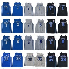 017cb9227f30 Duke  1 Zion Williamson Jersey  5 RJ Barrett  2 Cam Reddish 35 Marvin  Bagley III College Basketball University Blue Black White