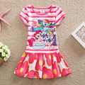 NEAT 2016  cotton baby girl clothes my little pony Fashion embroidery  dress tutu cartoon children dresses Lovely clothes Q9116#