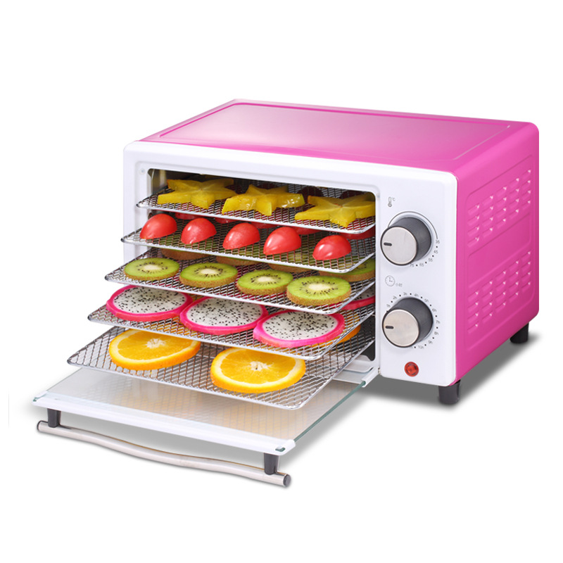 все цены на 5 Layers Food Dehydrator Fruit Vegetable Herb Meat Drying Machine Household Mini Timed Food Dryer Smart Dual-use 300W Purple онлайн