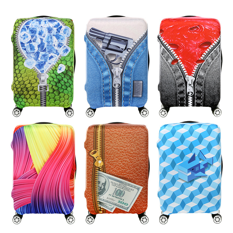 Travel Accessories Luggage Cover Suitcase Protection High Quality Thermal Transfer Baggage Dust Cover Trunk Set Trolley Case