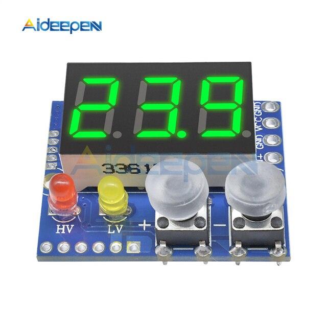DC 4-30 V rouge LED voltmètre numérique 3Way 0-99.9 V alarme indicateur tension affichage compteur surtension sous-tension Protection