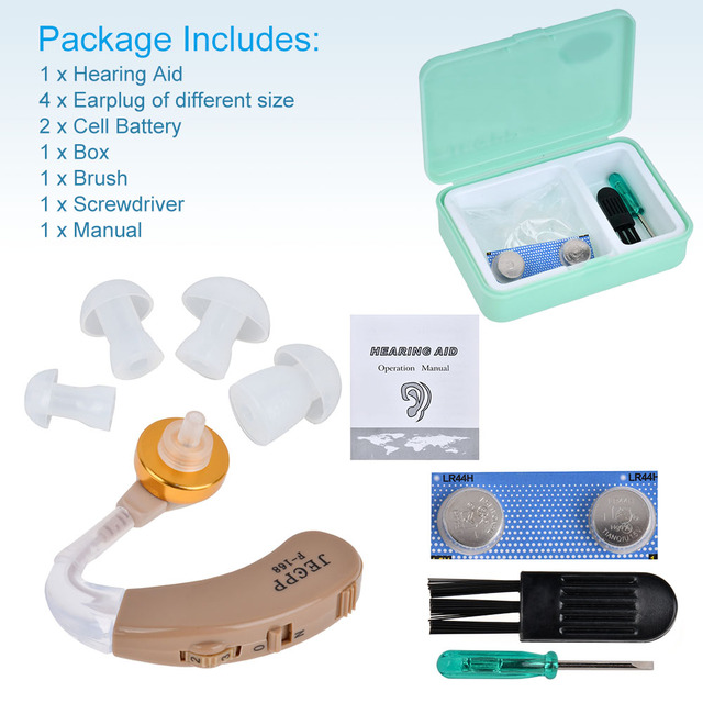F-168 BTE Hearing Aids Voice Amplifier Device Adjustable Sound Enhancer Hearing Aid Kit Ear Care 5