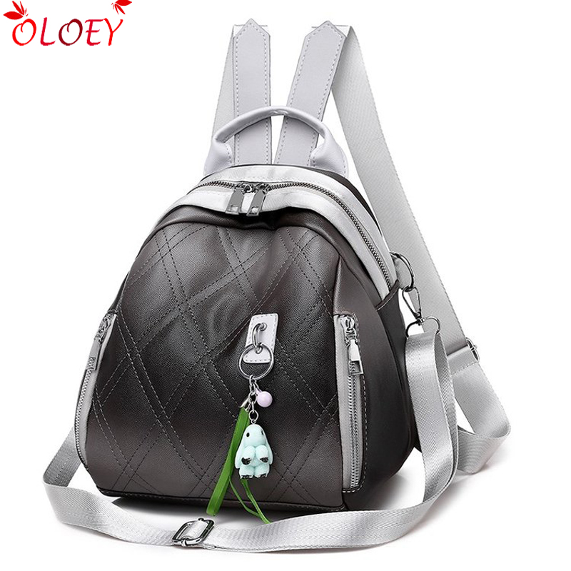 2019 New Wave Dual-use Korean Version Of The Backpack Female Soft Skin Garden Small Fresh Ladies College Students Wild Bag