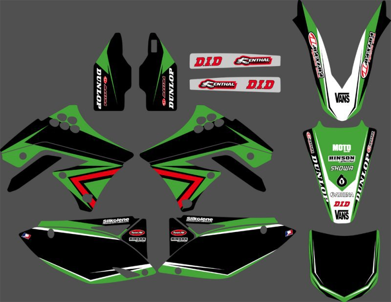 Motorcycle Graphics Decals Stickers For Kawasaki KX250F KXF250 2009 2010 2011 2012 KXF 250 KX 250F 0251 new style team decals stickers graphics kits for sx50 50cc 50 50sx for ktm 50 2009 2010 2011 2012 2013