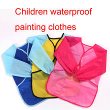 Newest Waterproof Art Smock long sleeve kids painting shirt paint apron girl boy school High Quality Hot Sale(China)