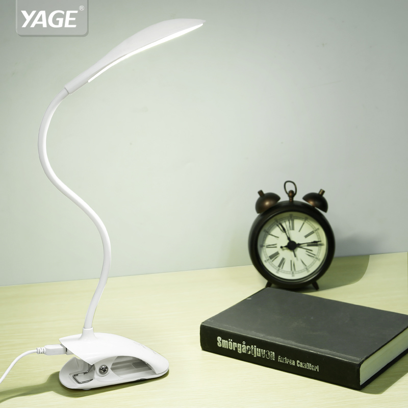 YAGE YG-5933 Desk lamp USB led Table Lamp 14 LED Table lamp with Clip Bed Reading book L ...