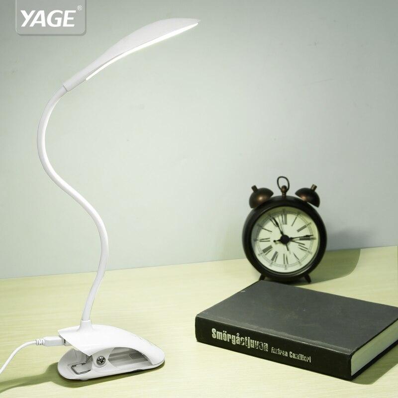YAGE YG-5933 lampe de Bureau USB led Lampe de Table 14 LED lampe de Table avec Clip Lit Lecture Light book LED Bureau lampe de Table Tactile 3 Modes