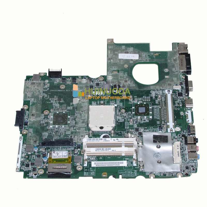 MBAUQ06001 MB.AUQ06.001 DA0ZK3MB6F0 laptop motherboard for acer aspire 6530 mainboard AMD DDR2 Without graphics slot