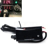 12V Motorcycle Waterproof Digital Thermometer Moto LED Engine Water Temperature Instrument Alarm Gauge Meter 0 120