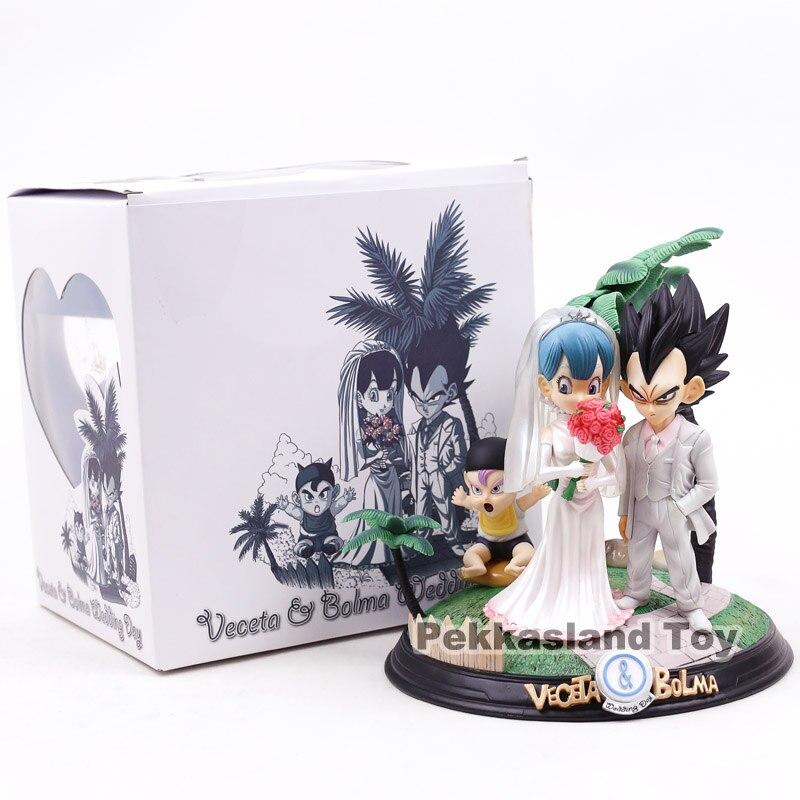 Anime Dragon Ball Z végéta & Bulma bébé troncs jour de mariage végéta famille Figure modèle jouets 22 cm