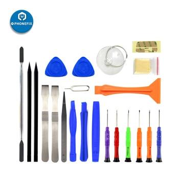 цена на 22 in 1 Mobile Repair Opening Tools with Pry Spudger Screwdriver Set Opening Tools for iPhone Repair Screen Repair Kit