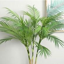 90 см зеленый искусственный пальмовый лист Пластик Растения Сад украшения дома Scutellaria Тропическое дерево поддельные растения