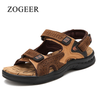 Sandals Men, 2018 New Breathable Summer Leather Sandals Mens, Classic Fashion Casual Beach Shoes For Man, ZOGEER Brand