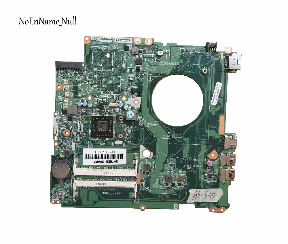 809987-001 Free Shipping 809987-601 Laptop Motherboard For Hp Pavilion 17-P Motherboard A6-6310 CPU DAY22AMB6E0 809987-501
