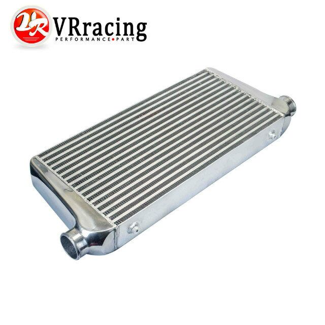 VR RACING - 600*300*76mmUniversal Turbo Intercooler bar&plate OD=2.5 Front Mount intercooler VR-IN816-25 epman universal 3 aluminium air filter turbo intake intercooler piping cold pipe ep af1022 af
