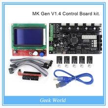 MKS Gen V1.4 control Board kit with MKS Gen V1.4 RepRap board + 5PCS TMC2100 Driver + 12864 Graphic LCD