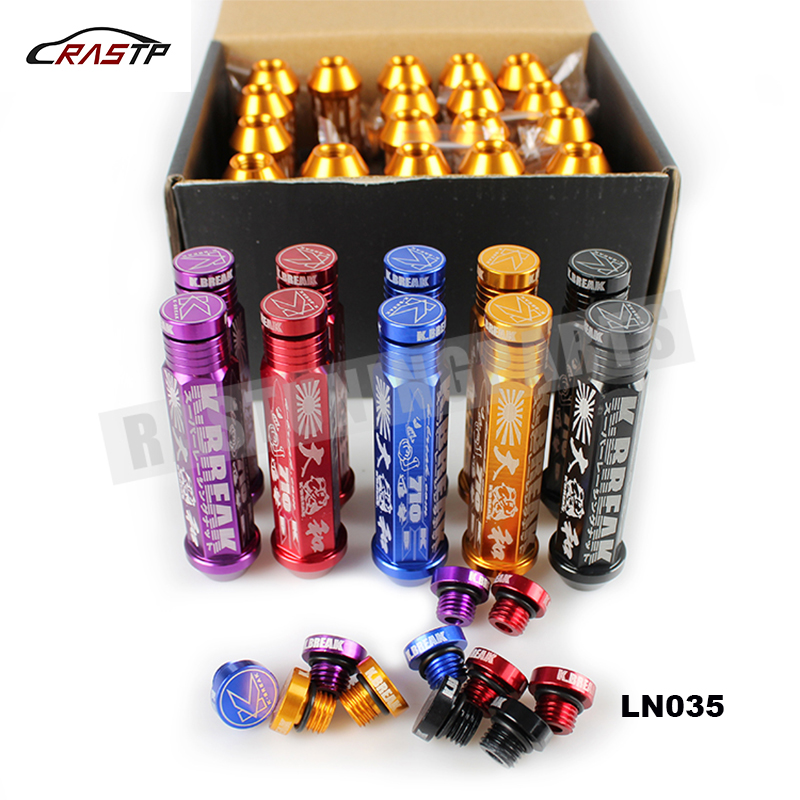 M12x1.25 K Breaks Alloy Aluminum 90MM Wheel Lug Nut With Crown Caps 20 Pieces for Nissan,Subar,Suzuki RS-LN035 ...