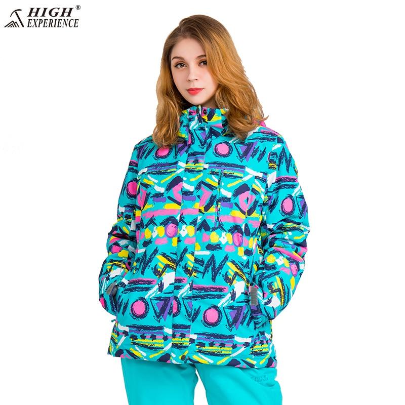 Femmes combinaison de Ski de Snowboard Set Femmes Hiver Veste Pantalon Imperméable Hiver Costume de Sport Pour Femmes Neige Vestes Chaud- 30 degré