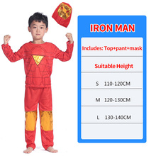 Anime Cosplay Costume Iron Man Clothes Kids Boy with Mask Spiderman Superman for Boys Halloween Gift