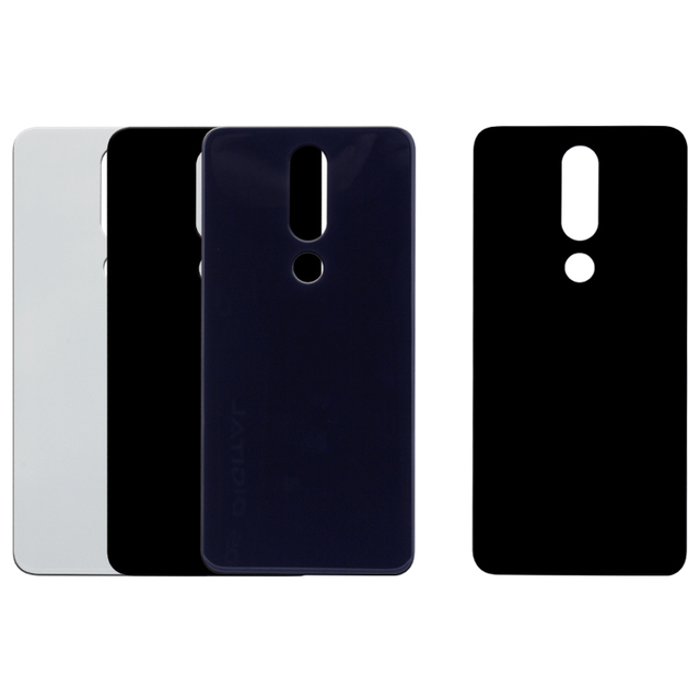the best attitude f239a 195a8 Original For Nokia X5 5.1 Plus Back Housing Cover Glass + Plastic For Nokia  X5 Rear Battery Cover Replacement Spare Repair Parts
