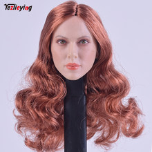 Custom 1/6 Scale Head Sculpt For Hot Toys Body GACTOYS GC002A Red Curls Hair W Mole for 12 Inch Figure Sideshow TTL Doll Toys(China)