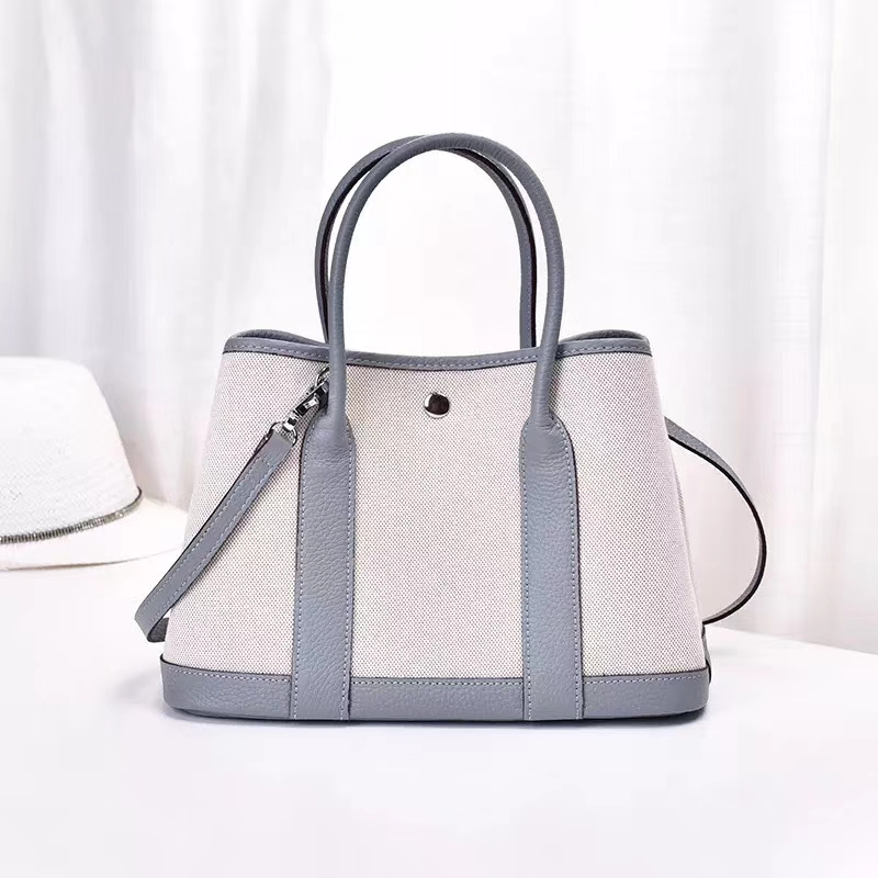 Canvas Cow Leather Tote Bag Luxury Designer Handbags Composite