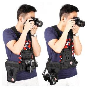 Image 2 - Carrier II Dual 2 กล้องสายรัดอกเสื้อกั๊กระบบQuick Strapด้านข้างสำหรับCanon Nikon Sony pentax DSLR