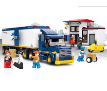 Sluban Fight Inserted Building Mega Blocks Freight Car Toys For Children Heavy Duty Sets Enlighten Compatible With Legoe
