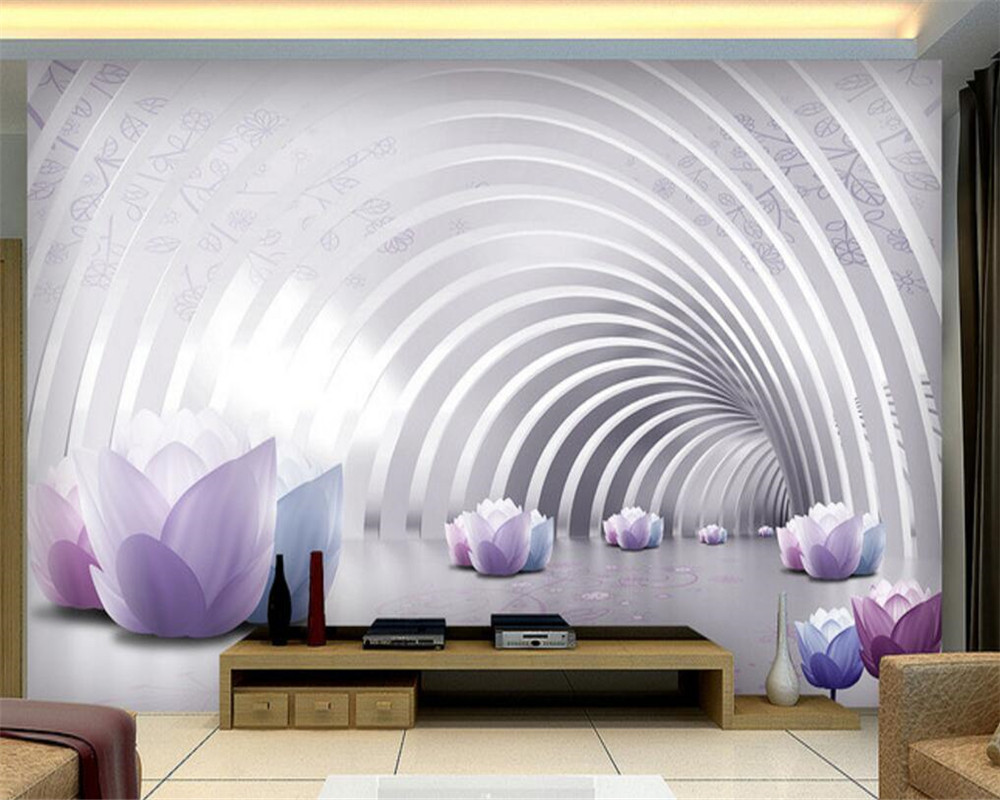 Beibehang Custom 3D wallpaper fashion warm flowers background ...