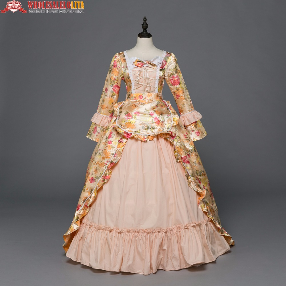 New Holiday Marie Antoinette Clothing Gothic Period Medieval Dress ...